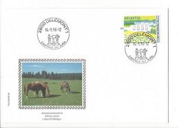 27313 - Delémont 14.05.1996 Automatenmarken Jahreszeiten Jura Frühling - Marcofilie
