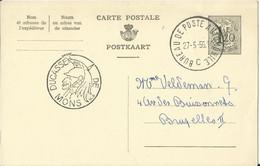 Folklore - Ducasse De Mons - Belgique - Carte Postale De 1956 - Oblitération Bureau De Poste Automobile - Annnullo Di Favore