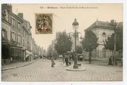 Orléans ( 45 )  Place Croix -Morin Et Rue Des Carmes , Carte Animée. - Orleans