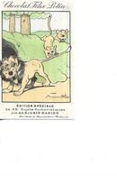 CHROMO      CHOCOLAT   FELIX POTIN   BENJAMIN RABIER     LION   ET 2 BEBES - Otros