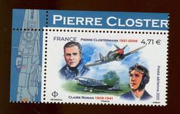 France Neuf ** - 2021 - Y&T N° PA 85 - Pierre Clostermann Et Claire Romain - Coin De Feuille Haut Gauche - Unused Stamps