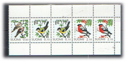 Finland 1991 Birds, Tit (Parus Major, Chaffinch (Fringilla Coelebs),  Bullfinch (Pyrrhula  Mi 1139-1141, MNH(**) - Nuevos