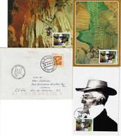 Brazil 2010 3 Maximum Card+ 1980 CoverTribute To Paleontologist Peter Lund And Lagoa Santa - Maximum Cards