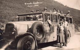 CARTE-PHOTO D'un Autobus à La Grande-Chartreuse En 1934. - Autres Communes