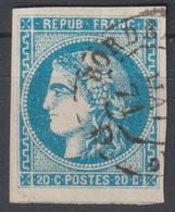 Bordeaux N°46 Oblitéré Càd Ambulant De Jour Bordeaux à ... - 1870 Uitgave Van Bordeaux