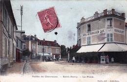 78 - Yvelines - Vallée De Chevreuse  -  SAINT REMY Les CHEVREUSE - La Place- Café/hotel/restaurant Au Bon Coin - St.-Rémy-lès-Chevreuse