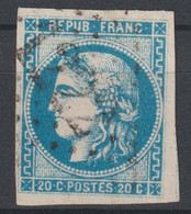 Bordeaux N°46 Oblitéré GC 1222 - 1870 Ausgabe Bordeaux
