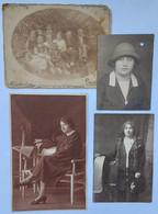 Judaica Juif Juive Lot 4x Pc & Pictures Hungary Jewish Women Pincehely 1928 Judaika - Geïdentificeerde Personen