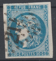 Bordeaux N°46 Oblitéré GC 214 - 1870 Ausgabe Bordeaux