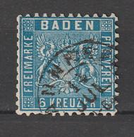 Baden - 1862 - Mi. 14 Gestempelt / 050 - Baden