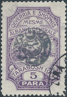 ALBANIA Centrale-Central Albania,QEVERRIA SHQPNIS 1915 Not Issued Albanian Postage Stamps From1913 Overprinted,5Pa Used - Albanie