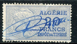"ALGERIE TIMBRE FISCAL OBLITERE  "" ALGERIE  20 FRANCS IMPOT DU TIMBRE "" - Used Stamps"