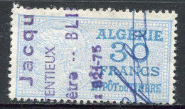 "ALGERIE TIMBRE FISCAL OBLITERE  "" ALGERIE  30 FRANCS IMPOT DU TIMBRE "" - Used Stamps"