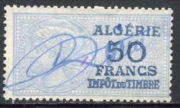 "ALGERIE TIMBRE FISCAL OBLITERE  "" ALGERIE  50 FRANCS IMPOT DU TIMBRE "" - Used Stamps"