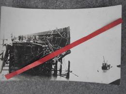 """Photo Carte """"Destruction D'une Partie Du Môle De Zeebrugge 1918"""" - 1914-18"""