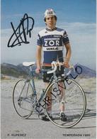 CYCLISME. Carte Dédicacée De Faustino RUPEREZ. Equipe ZOR 1985 - Cycling