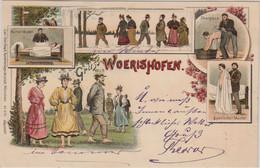 Bayern - Bad Wörishofen Mehrbild-Farblitho Kneipp-Anwendungen Gelaufen 1896 - Ohne Zuordnung