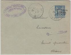 Frankreich - 10 C. Taxe Reduite Ganzsache/Überdruck Brief Vivier-au-Court 1913 - Unclassified