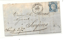 Seine Et Oise -  Ligne De Creil à Paris Par Pontoise (CR.P.P.) Pour Surgeres. STATION DE BEAUMONT. Indice 8 - 1849-1876: Classic Period