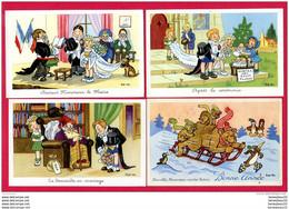LOT DE 4 CPA (Ref A178) ILLUSTRATEURS & PHOTOGRAPHES SIGNÉS ROB-VEL - Other Illustrators