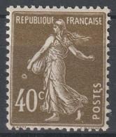 Semeuse N°193 Variété Anneau Lune - 1906-38 Säerin, Untergrund Glatt
