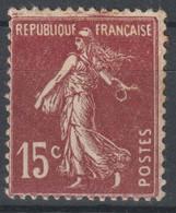 Semeuse N°189 Variété Anneau Lune - 1906-38 Säerin, Untergrund Glatt