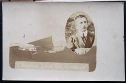 "CPA Photo Aviation Signée - ""L'Aviateur Louis Guy En Plein Vol"" - 1911? - Bonneville 74 - Aviatori"