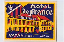 Vatan Indre - Hôtel De France - Hotel Label - France - Adesivi Di Alberghi
