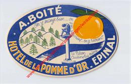Epinal - Hôtel De La Pomme D'Or - A. Boité - Hotel Label - France - Adesivi Di Alberghi
