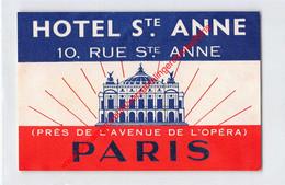 Paris - Hôtel Sainte Anne - Rue Ste Anne - Hotel Label - France - Adesivi Di Alberghi