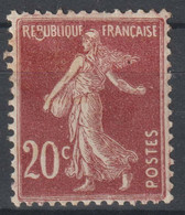 Semeuse N°139 Variété Anneau Lune - 1906-38 Säerin, Untergrund Glatt