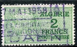 "ALGERIE TIMBRE FISCAL OBLITERE  "" ALGERIE  2 FRANCS IMPOT DU TIMBRE "" - Used Stamps"