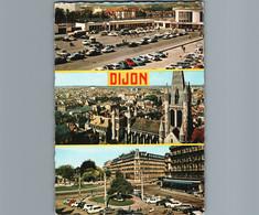 21 - Côte D'Or - Dijon - Cpsm Gd Format Dentelée  - Multivues 3 - Avec Gare - Dijon