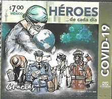 MEXICO, 2020, MNH,HEROES, COVID-19, FIREMEN, POSTAL WORKERS,1v - Sonstige