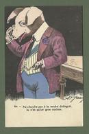 CARTE POSTALE FANTAISIE HUMORISTIQUE ILLUSTRATEUR JARRY N° 834 COCHON PORC - Dressed Animals