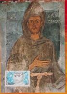 CM-Carte Maximum Card # France-1982 # Personnages Célébres #celebrity # Religion # St Francois D´Assise , Saint  A - 1980-89