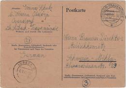 Behelfsausgabe Der RPD Hamburg / Ganzsache P 700 B Vom 9.11.1945, Lübeck-Travemünde - American/British Zone