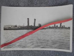Photo Carte Bateaux à La Côte - Région D'Ostende Zeebrugge - 1914-18