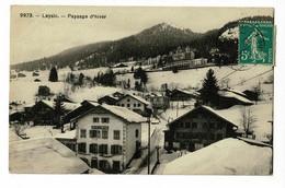 Leysin - Café De La Montagne - Circulé 1905, Le Timbre Suisse Collé Au Verso Est Un Intrus - VD Vaud