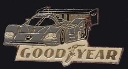 70996- Pin's.Mercedes.Good Year.rallye Automobile.signé Sauvagine. - Rallye