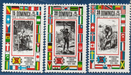 Dominicana 1969, ILO Labor Organisation 3 Stamps MNH 2105.2425 OIT Harvesting, Threshing And Spinning - ILO