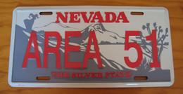 USA Metal (tin) Plate 'Area 51'' Nevada - The Silver State 30x15cm - NEW - Plaques En Tôle (après 1960)