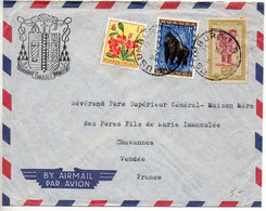 Ruanda-Urundi : Lettre De 1960 Pour La France - CaD USUMBURA -1 - 1948-61: Lettres