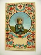 San  Giorgio  Firenze Beato Angelico Vintage Embossed SANTO SANCTE  SAINT  RELIGIONE  NON VIAGGIATA FORMATO PICCOLO - Santi