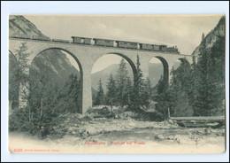 V1140/ Albulabahn  Viadukt Bei Preda AK  Eisenbahn Schweiz Ca.1910 - Unclassified