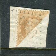 Rare N° 28 Coupé En Deux Sur Fragment - Cachet GC 4886 ( Leforest - Pas De Calais ) - 1863-1870 Napoléon III Lauré