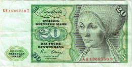 Allemagne. Billet 20 Deutsche Mark. 1961. - 20 Deutsche Mark