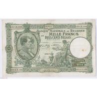 BILLET BELGIQUE 1000 FRANCS 05-08-1941 L'art Des Gents AVIGNON - 1000 Franchi & 1000 Franchi-200 Belgas
