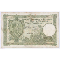 BILLET BELGIQUE 1000 FRANCS 22-04-1943 L'art Des Gents AVIGNON - 1000 Franchi-200 Belgas