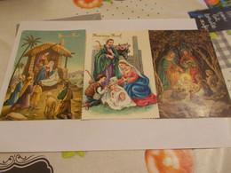 FETES JOYEUX NOEL JESUS MARIE JOSEPH  ANGES  LES ROIS MAGES ENFANTS MOUTONS BOEUFS VACHES CRECHES Lot De 144 CP - 100 - 499 Cartoline